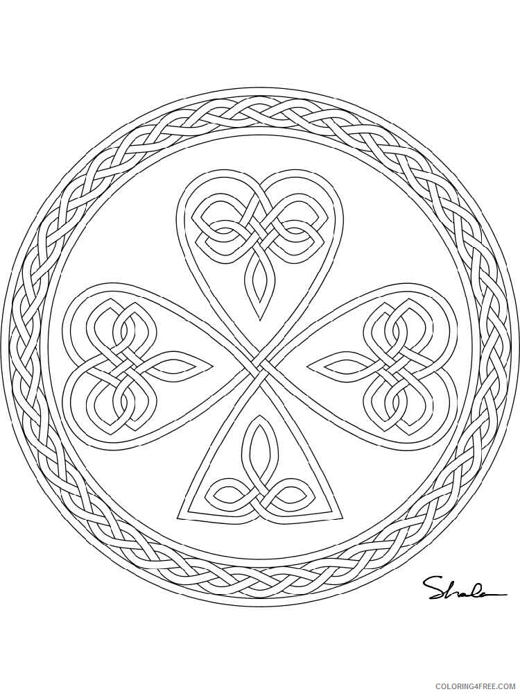 Celtic Knot Coloring Pages Adult adult celtic knot 20 Printable 2020 180 Coloring4free
