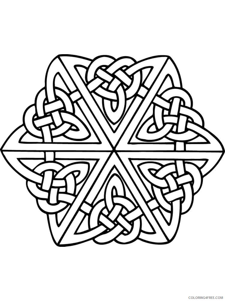 Celtic Knot Coloring Pages Adult adult celtic knot 3 Printable 2020 181 Coloring4free