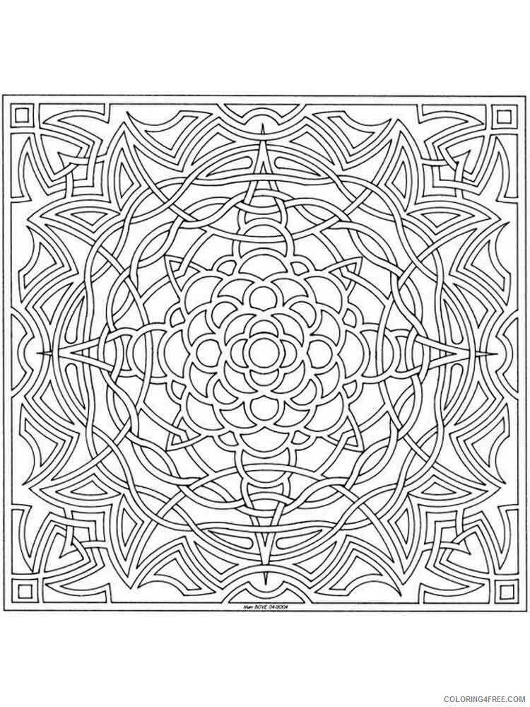 Celtic Knot Coloring Pages Adult adult celtic knot 4 Printable 2020 182 Coloring4free