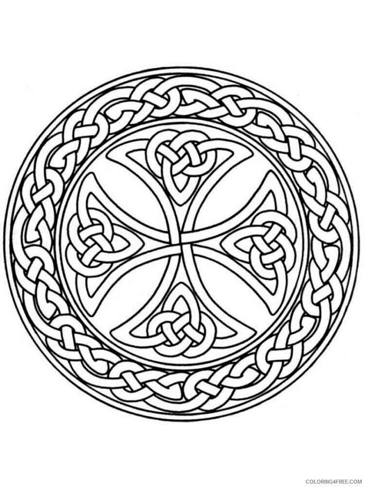 Celtic Knot Coloring Pages Adult adult celtic knot 5 Printable 2020 183 Coloring4free
