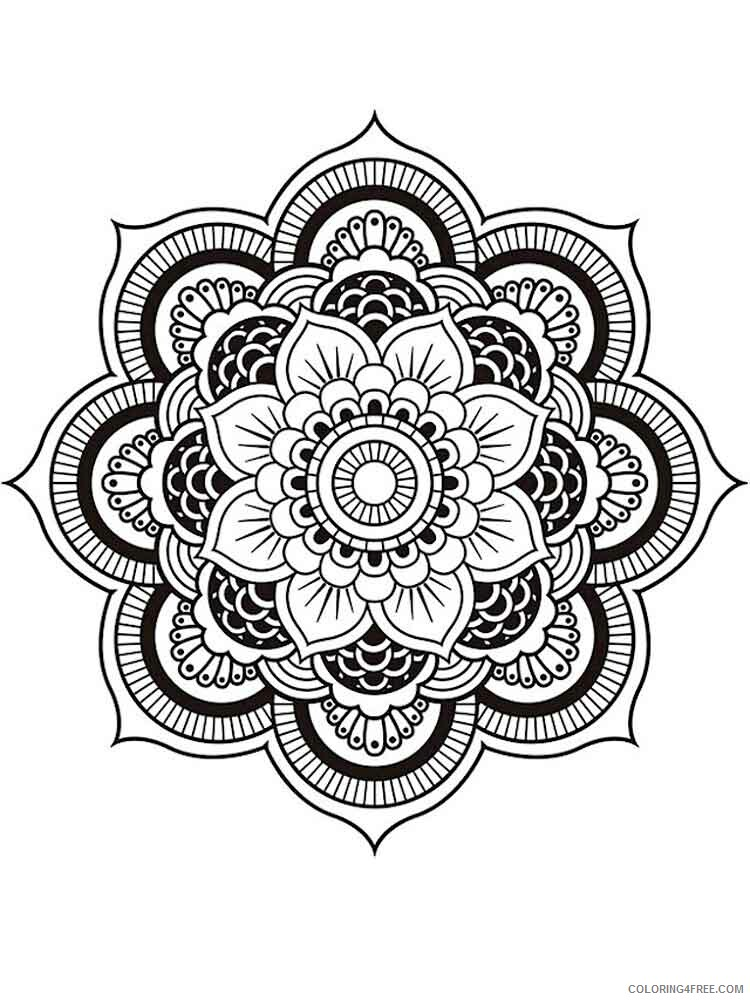 Chakra Mandalas Coloring Pages Adult adult chakra mandalas 15 Printable 2020 190 Coloring4free