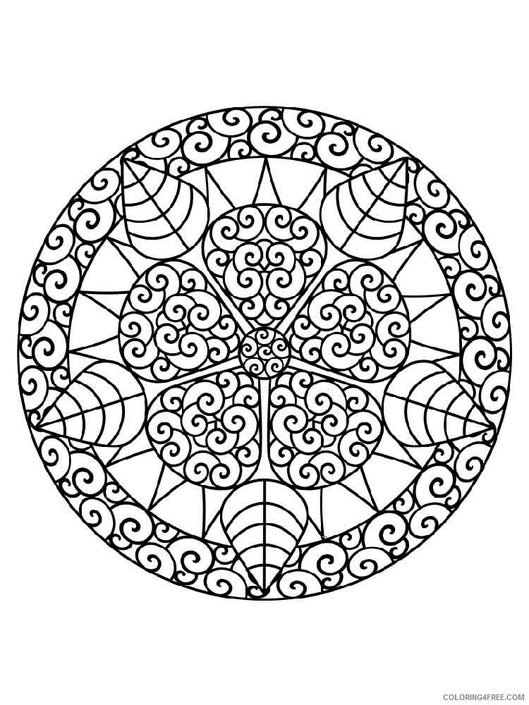 Chakra Mandalas Coloring Pages Adult adult chakra mandalas 18 Printable 2020 193 Coloring4free