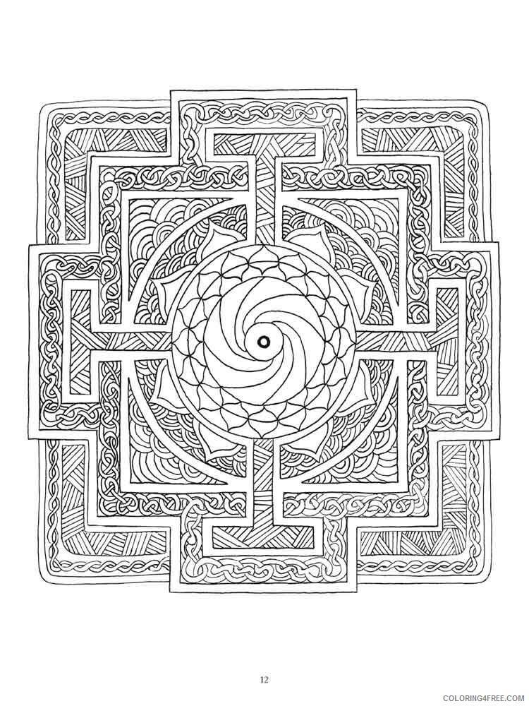 Chakra Mandalas Coloring Pages Adult adult chakra mandalas 19 Printable 2020 194 Coloring4free