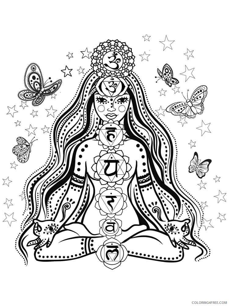Chakra Mandalas Coloring Pages Adult adult chakra mandalas 2 Printable 2020 195 Coloring4free