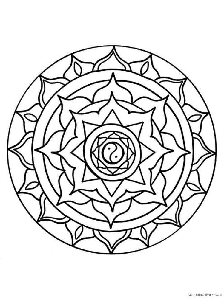 Chakra Mandalas Coloring Pages Adult adult chakra mandalas 3 Printable 2020 196 Coloring4free