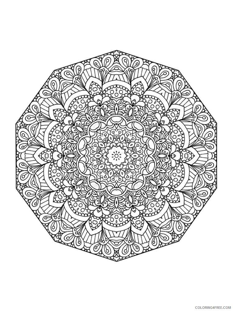 Chakra Mandalas Coloring Pages Adult adult chakra mandalas 6 Printable 2020 197 Coloring4free