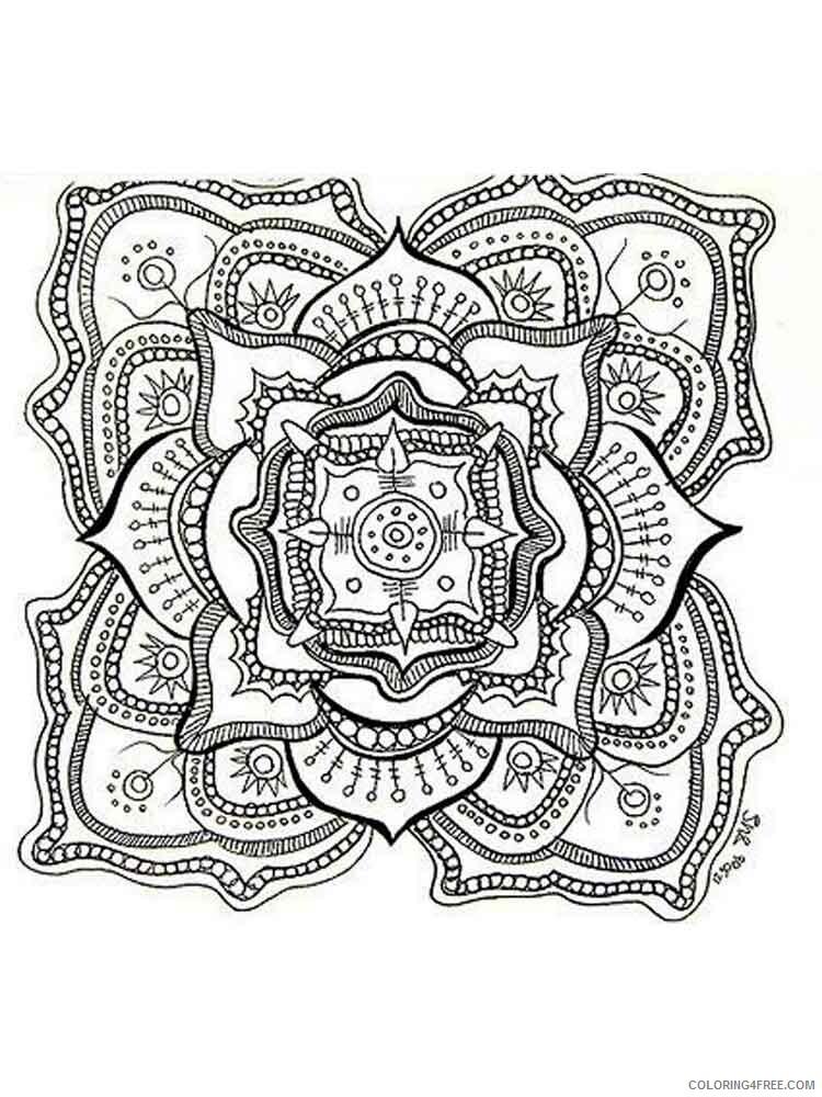 Chakra Mandalas Coloring Pages Adult adult chakra mandalas 7 Printable 2020 198 Coloring4free