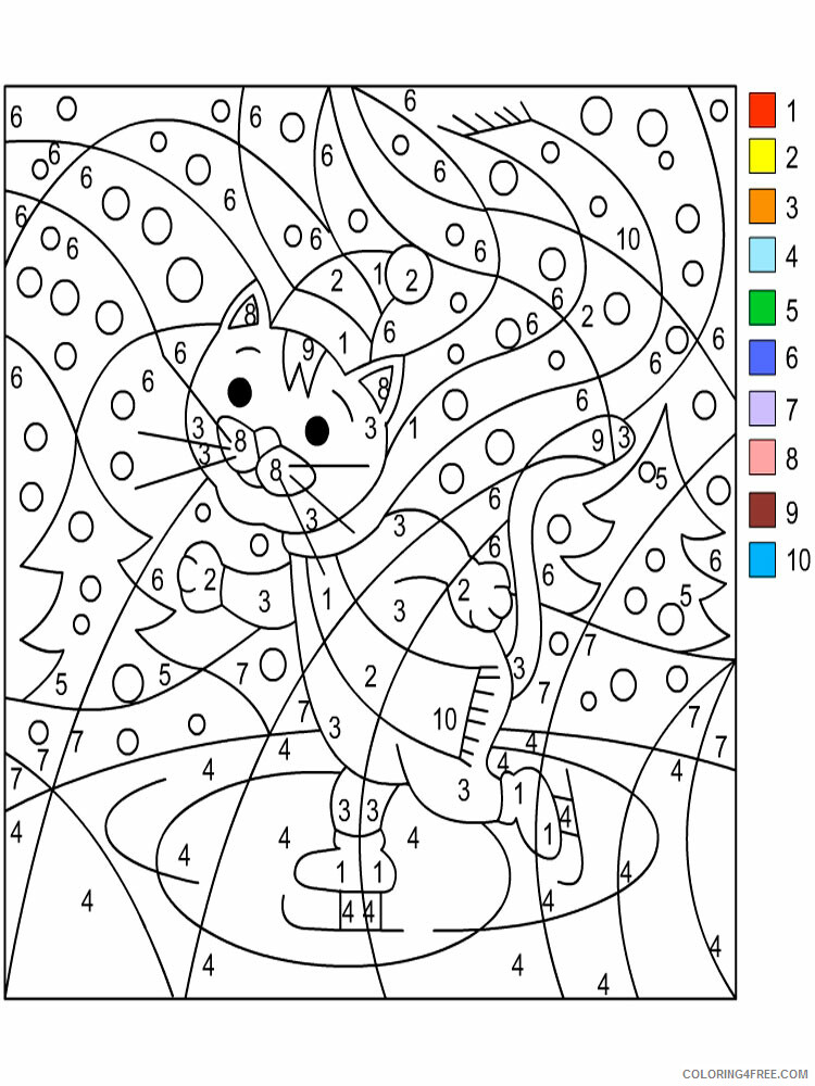 Color By Number Coloring Pages Educational Color By Number 13 Printable  2020 1001 Coloring4free - Coloring4Free.com