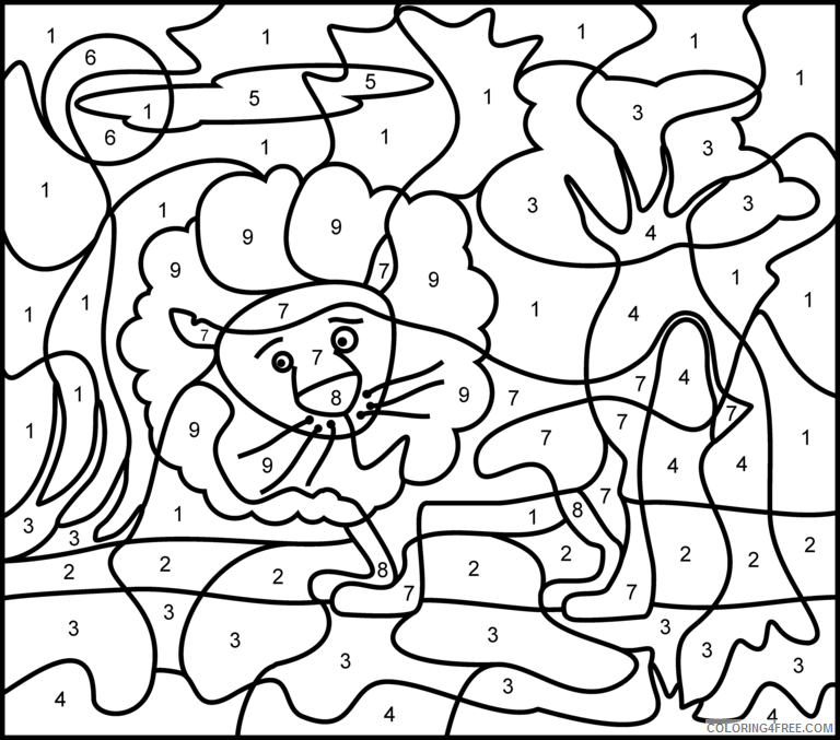 Color By Number Coloring Pages Educational Sheets Printable 2020 1029  Coloring4free - Coloring4Free.com