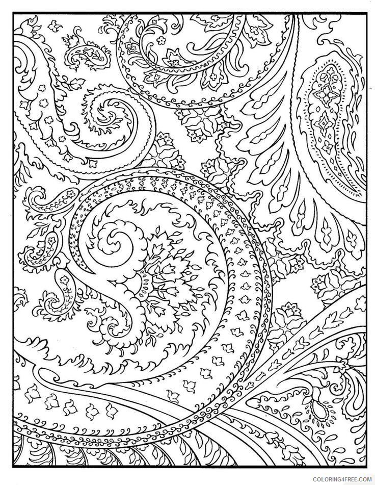 Complex Coloring Pages Adult Complex Pattern Printable 2020 229 Coloring4free