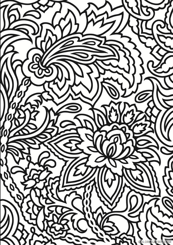 Complex Coloring Pages Adult Complex Pattern for Adults Printable 2020 230 Coloring4free