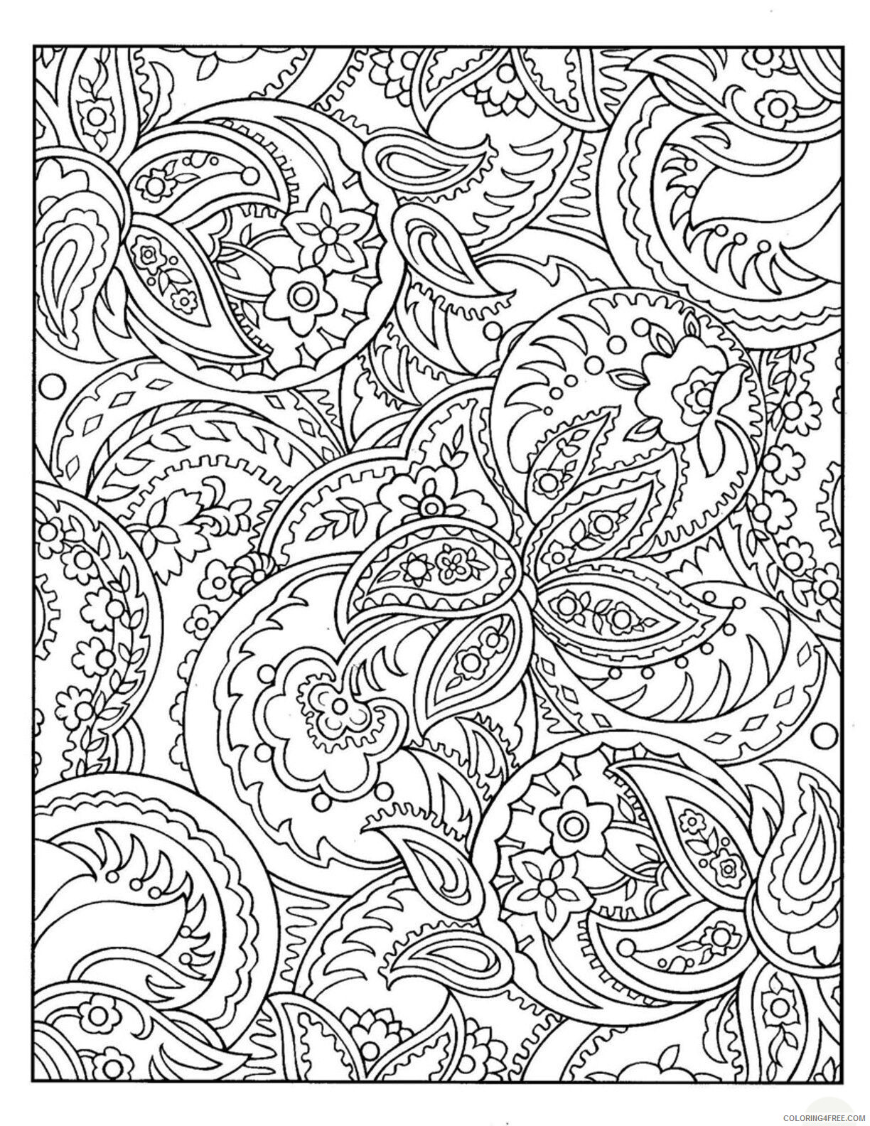 Complex Coloring Pages Adult Free Complex Pattern Printable 2020 232 Coloring4free