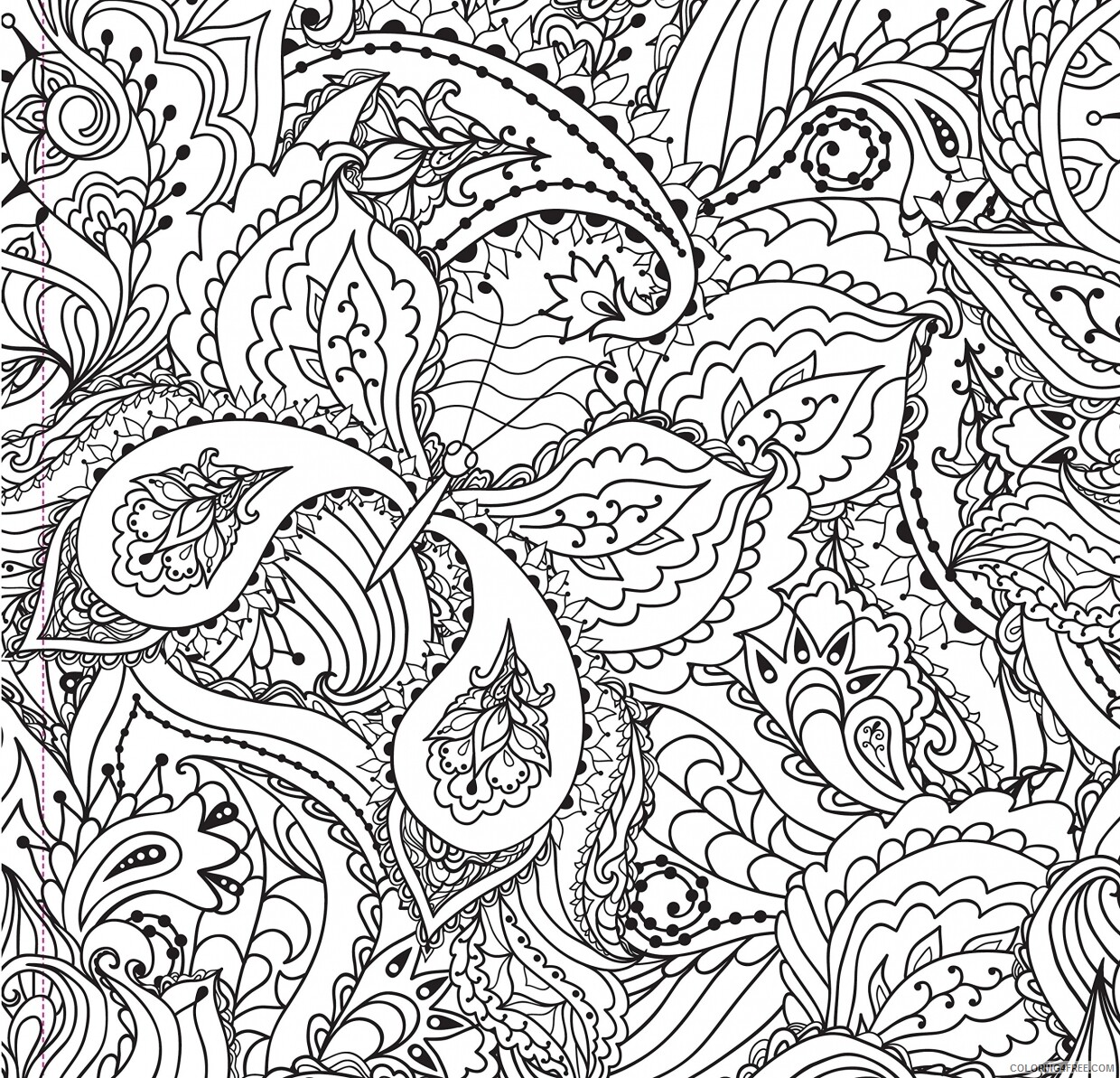 Complex Coloring Pages Adult Free for Adults and Teens Printable 2020 231 Coloring4free