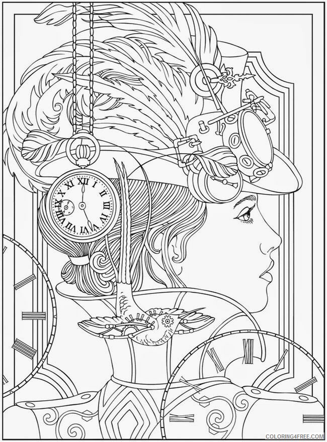 Complex Coloring Pages Adult Printable Complex Woman Printable 2020 239 Coloring4free