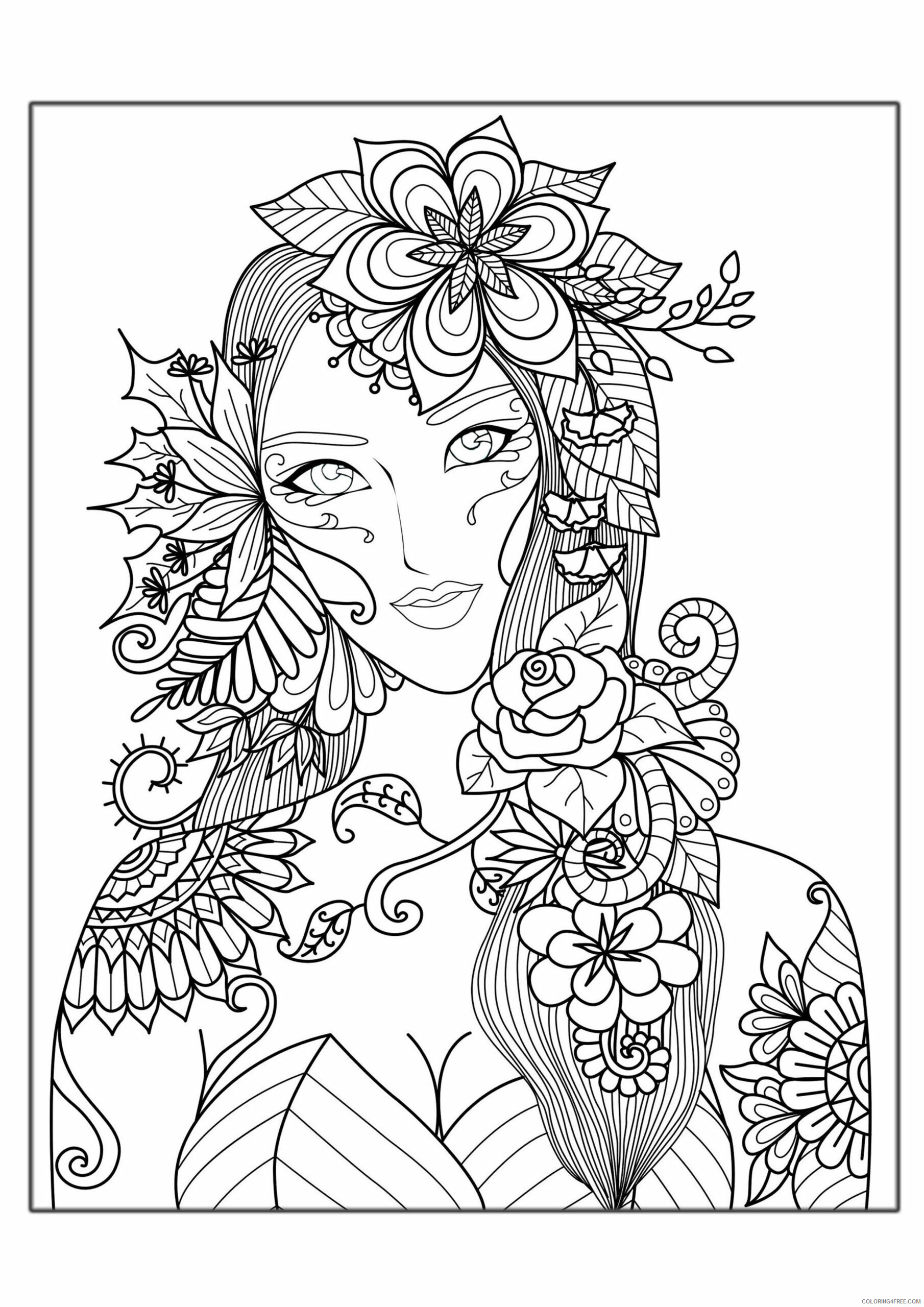 Complex Coloring Pages Adult complex for adults Printable 2020 204 Coloring4free