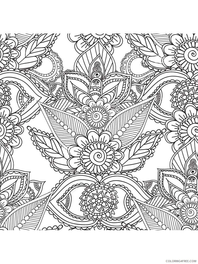 Complex Coloring Pages Adult complex for teens and adults 4 Printable 2020 217 Coloring4free