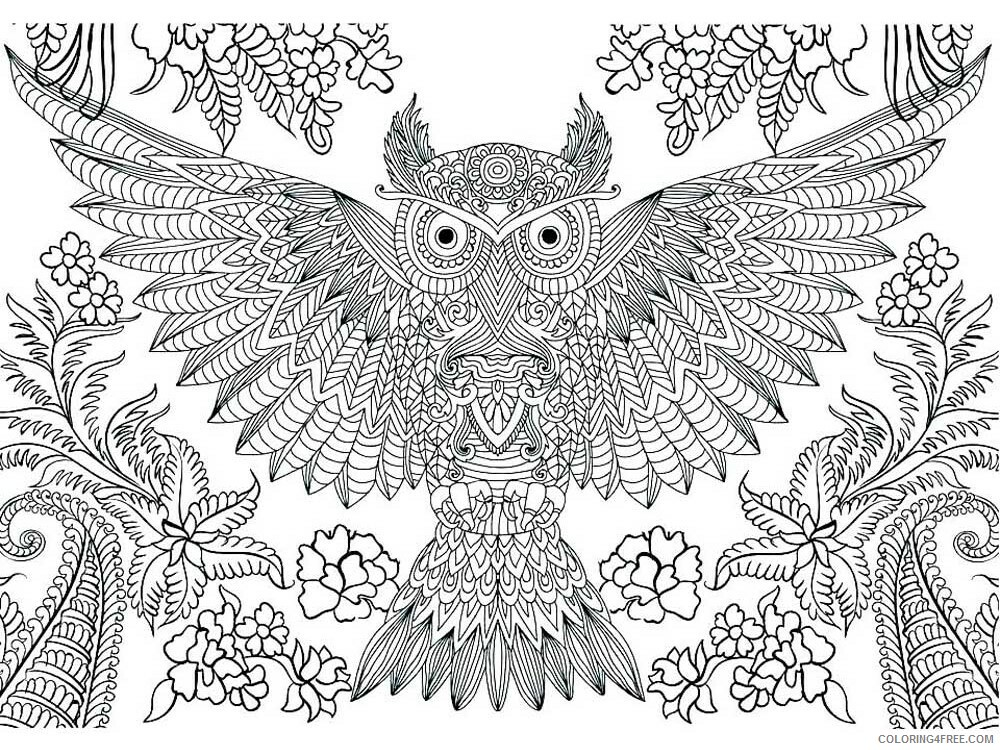 Complex Coloring Pages Adult complex for teens and adults 7 Printable 2020 218 Coloring4free