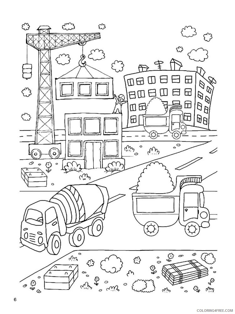 Construction Site Coloring Pages For Boys Construction Site 17 Printable 2020 0144 Coloring4free Coloring4free Com