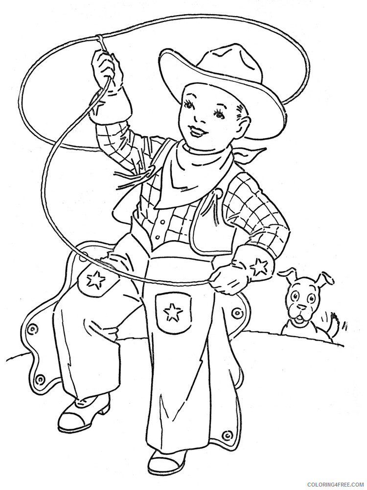 Cowboy Coloring Pages For Boys Cowboy For Boys 15 Printable 2020 0205 Coloring4free Coloring4free Com