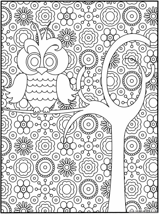 Detailed Coloring Pages Adult Detailed Owl for Adults Printable 2020 282 Coloring4free