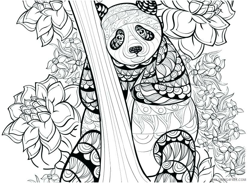 Detailed Coloring Pages Adult Detailed Panda for Adults Printable 2020 283 Coloring4free
