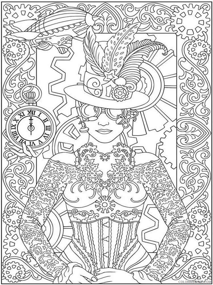 Detailed Coloring Pages Adult adult detailed 13 Printable 2020 265 Coloring4free