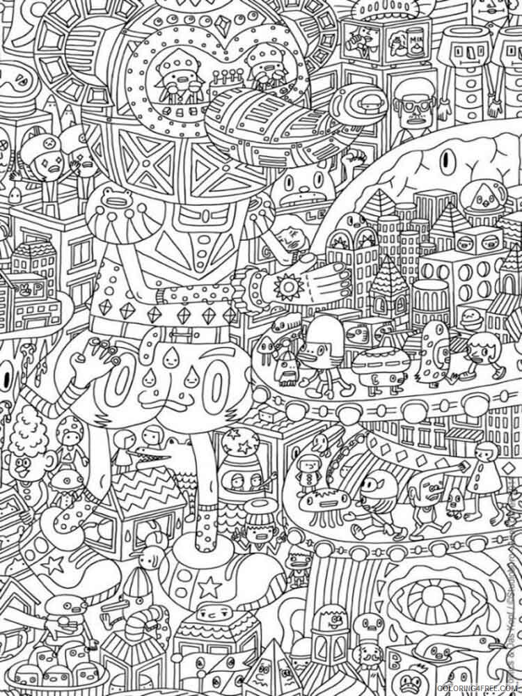 Detailed Coloring Pages Adult adult detailed 17 Printable 2020 266 Coloring4free