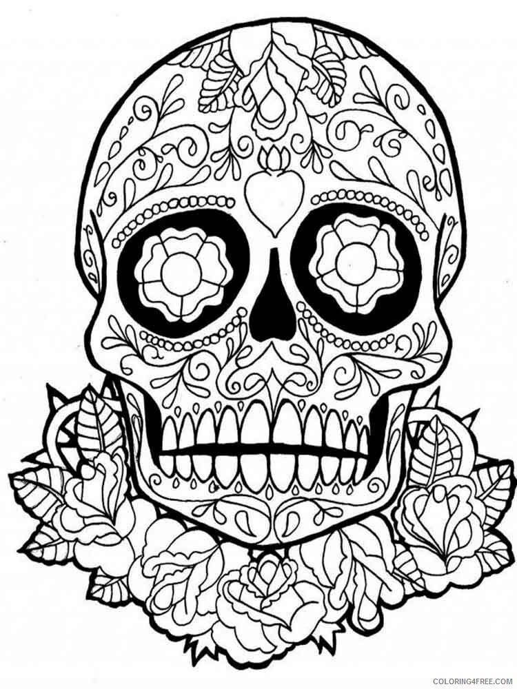 Dia de los Muertos Coloring Pages Adult 1 Printable 2020 285 Coloring4free