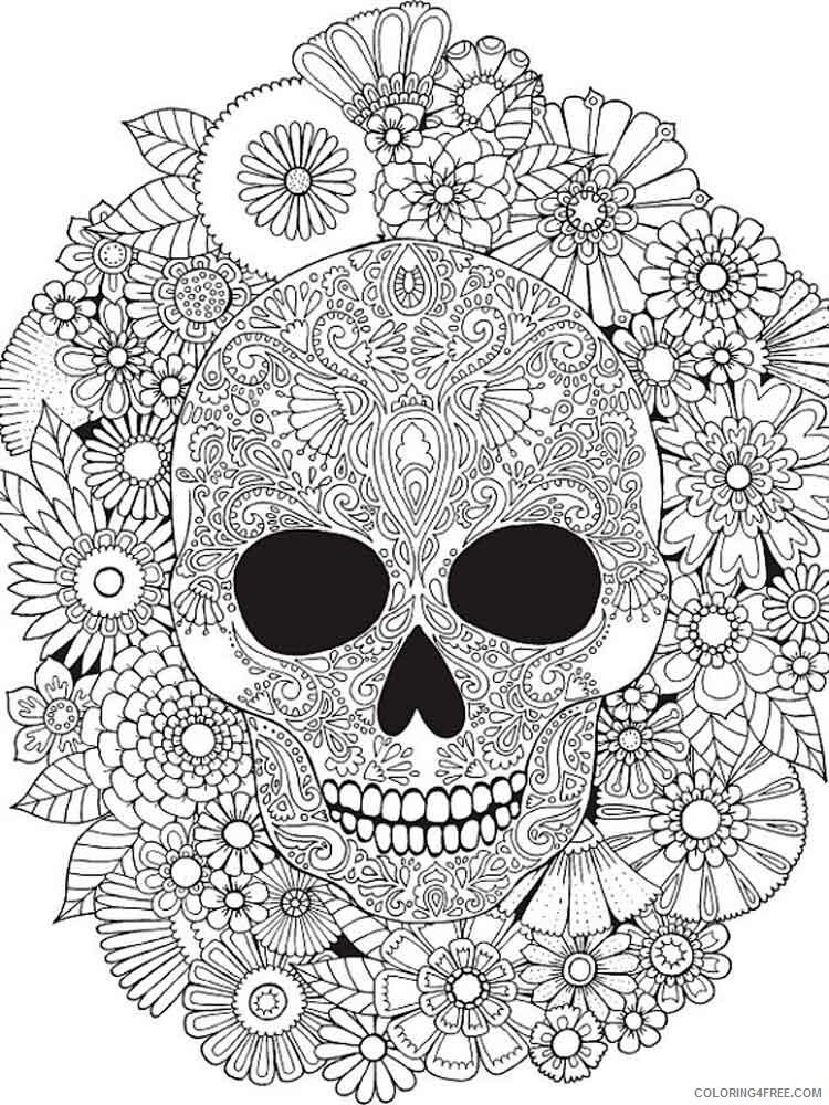 Dia de los Muertos Coloring Pages Adult 10 Printable 2020 286 Coloring4free