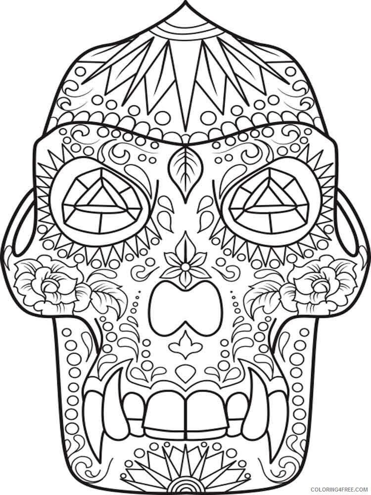 Dia de los Muertos Coloring Pages Adult 16 Printable 2020 291 Coloring4free