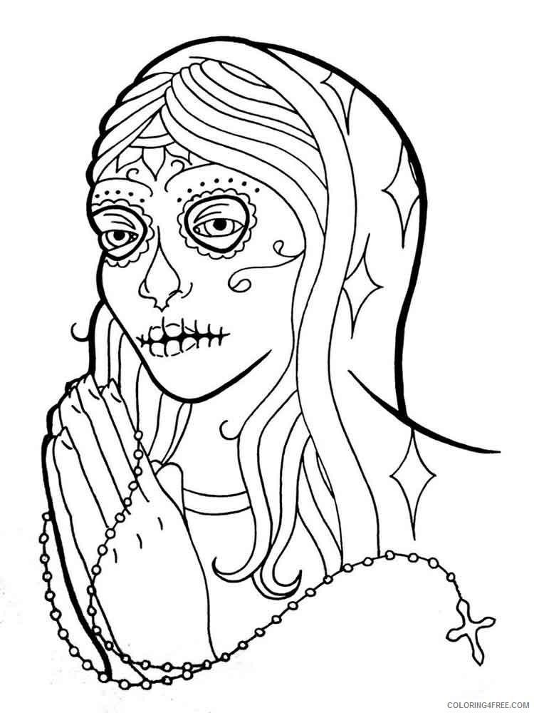 Dia de los Muertos Coloring Pages Adult 18 Printable 2020 293 Coloring4free