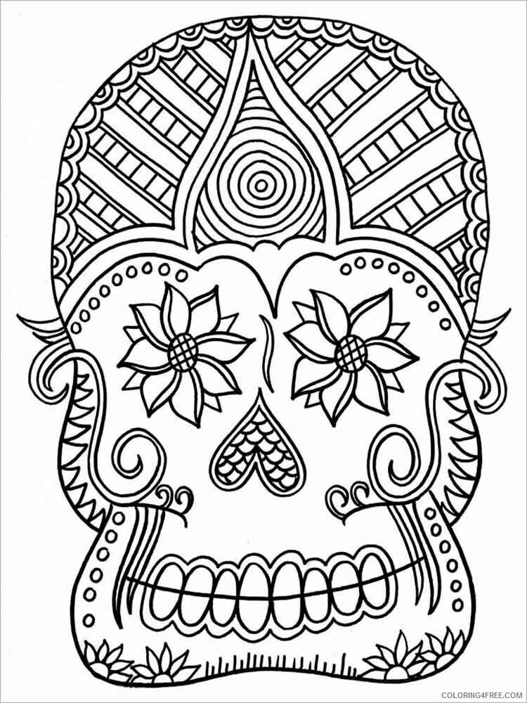 Dia de los Muertos Coloring Pages Adult 2 Printable 2020 294 Coloring4free