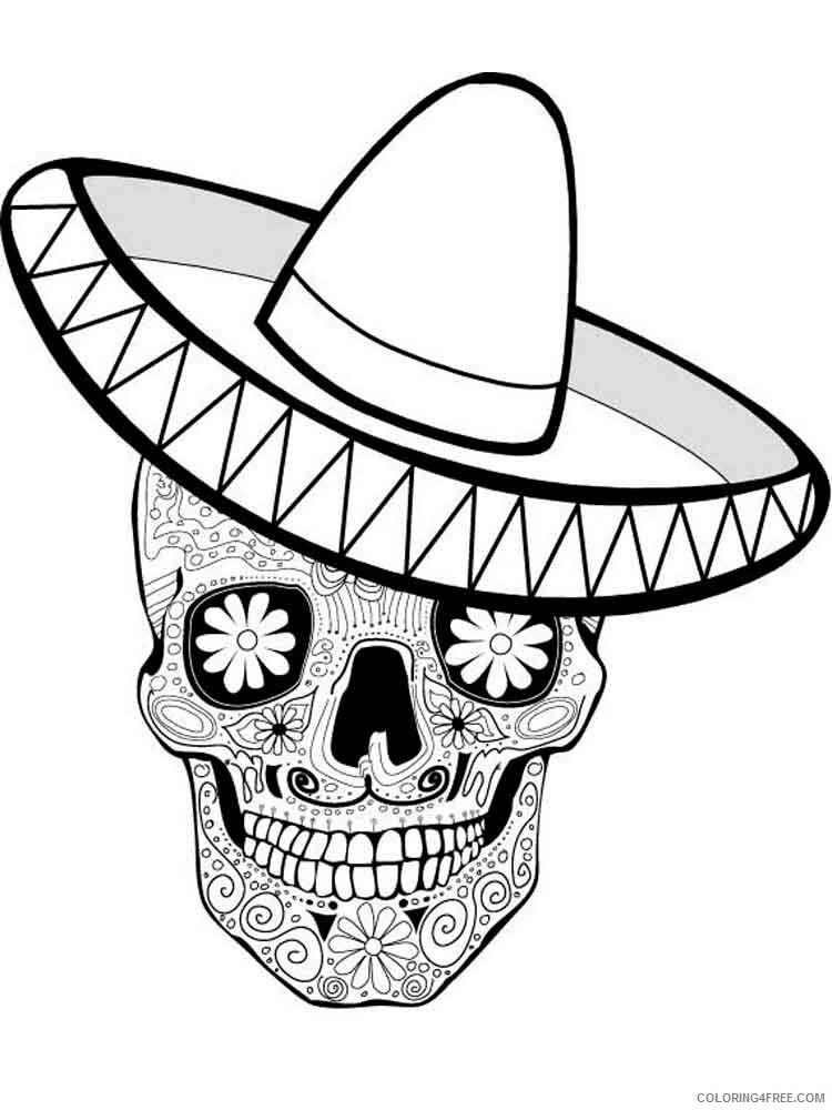 Dia De Los Muertos Coloring Pages Adult 6 Printable 2020 297 Coloring4free Coloring4free Com