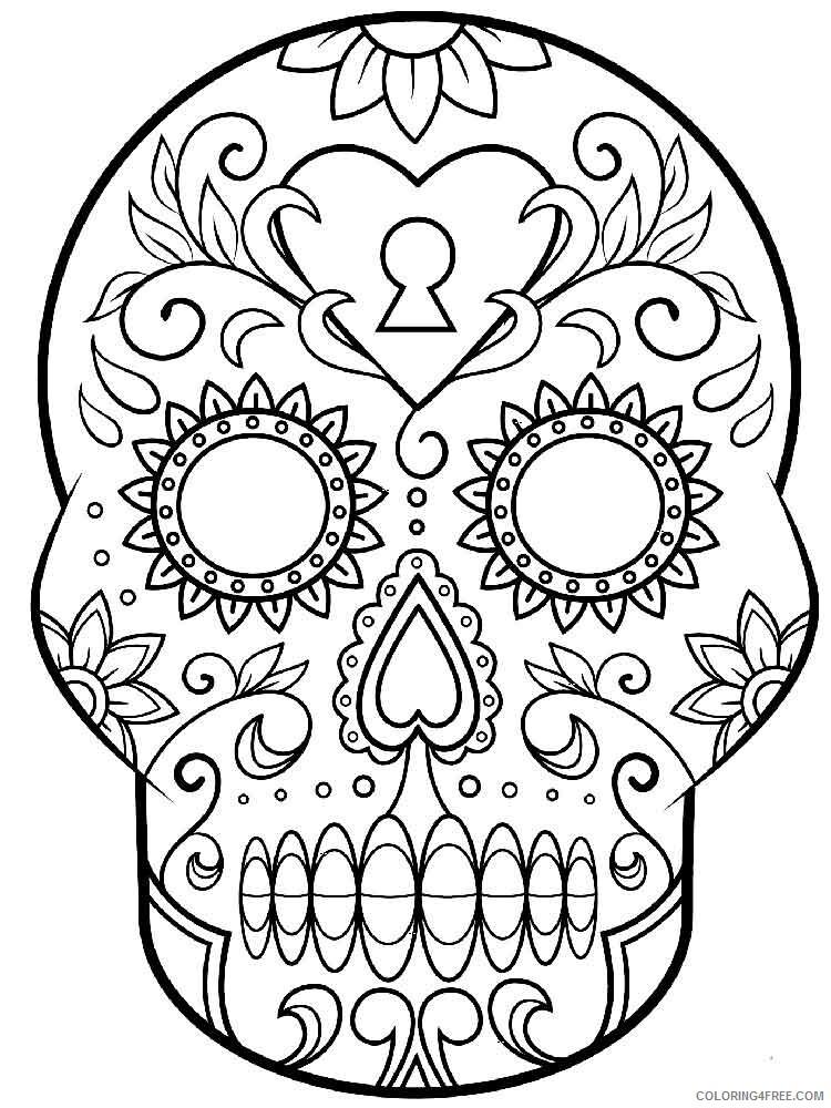 Dia de los Muertos Coloring Pages Adult 7 Printable 2020 298 Coloring4free