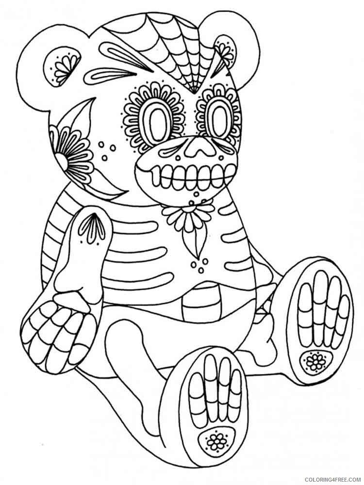 Dia de los Muertos Coloring Pages Adult 8 Printable 2020 299 Coloring4free