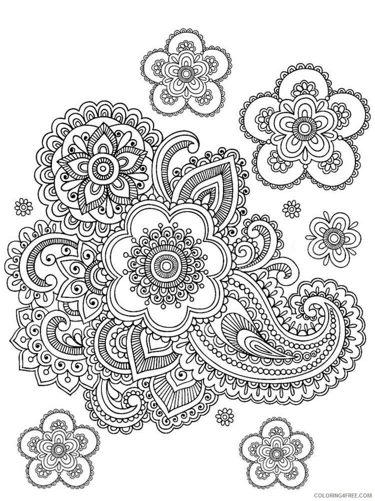 Difficult Coloring Pages Adult difficult for adults 1 Printable 2020 303 Coloring4free