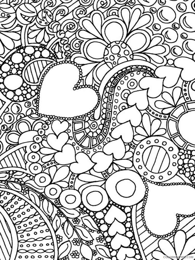 Difficult Coloring Pages Adult difficult for adults 10 Printable 2020 304 Coloring4free