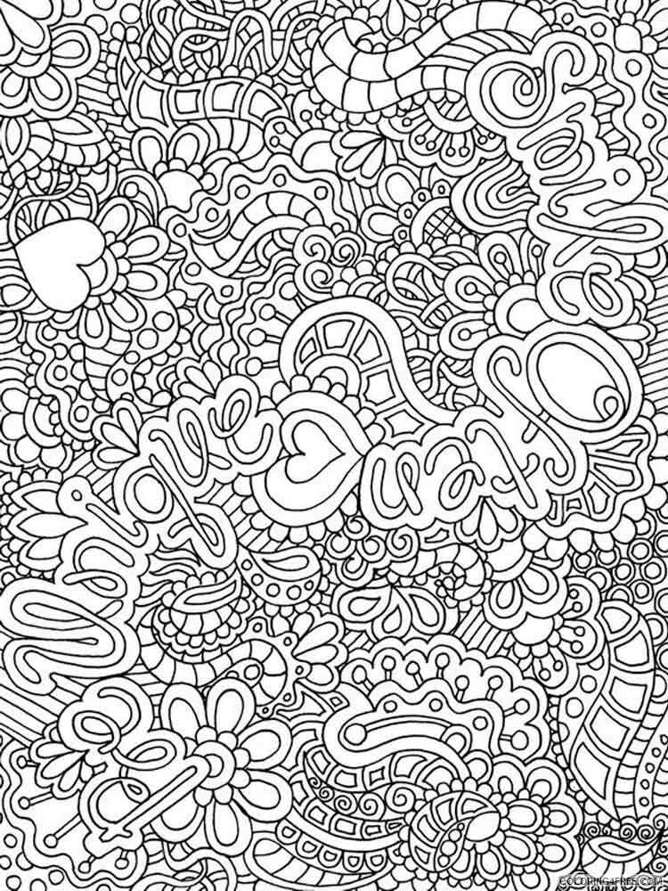 Difficult Coloring Pages Adult Difficult For Adults 13 Printable 2020 306 Coloring4free Coloring4free Com