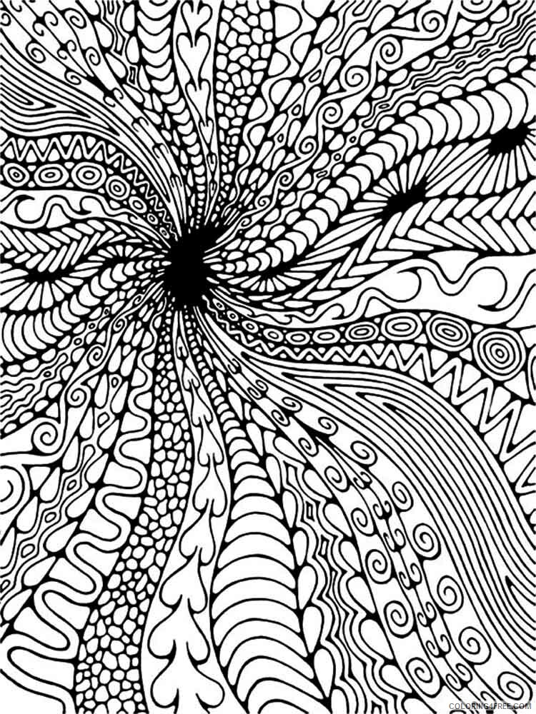 Difficult Coloring Pages Adult difficult for adults 16 Printable 2020 308 Coloring4free