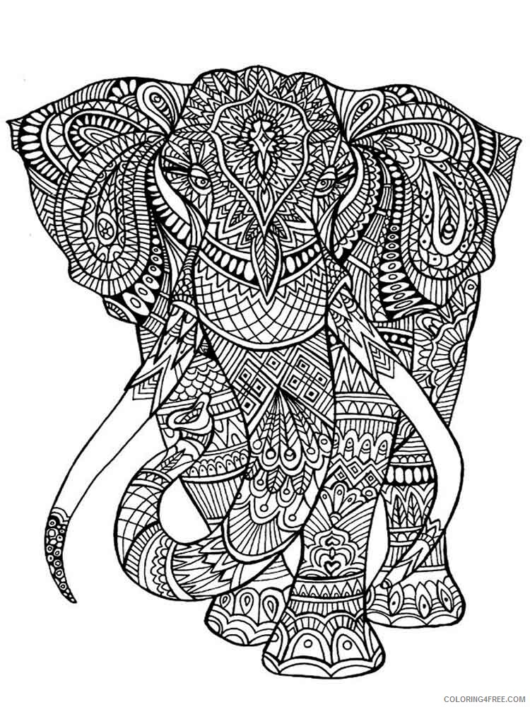Difficult Coloring Pages Adult difficult for adults 17 Printable 2020 309 Coloring4free