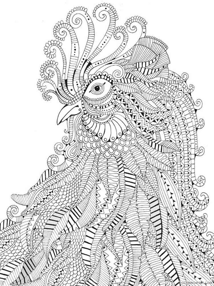 Difficult Coloring Pages Adult Difficult For Adults 6 Printable 2020 314  Coloring4free - Coloring4Free.com