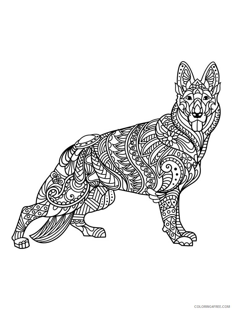 Dog for Adults Coloring Pages dog for adults 10 Printable 2020 567 Coloring4free