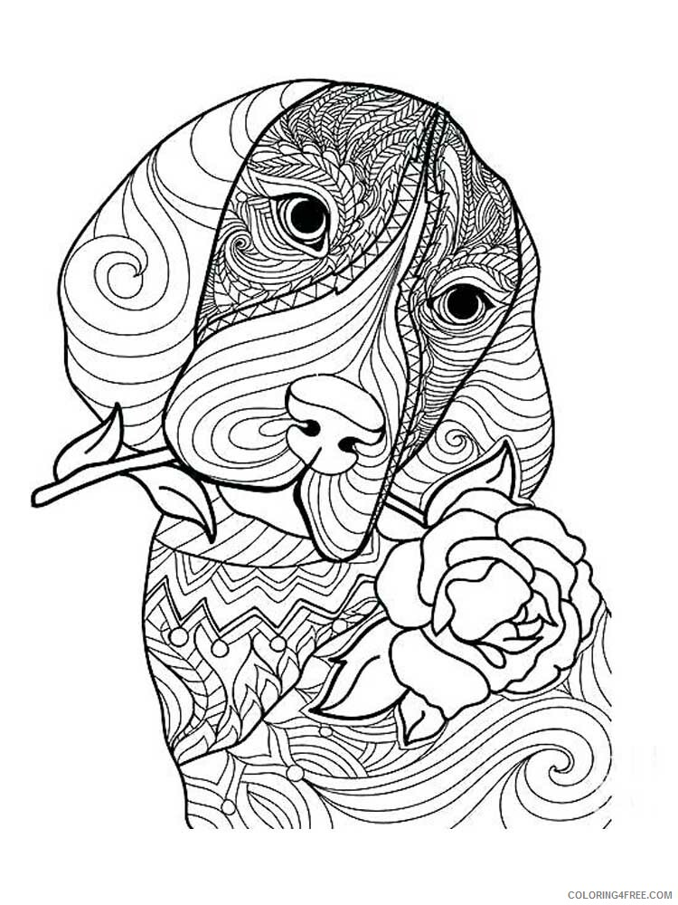 Dog for Adults Coloring Pages dog for adults 11 Printable 2020 568 Coloring4free
