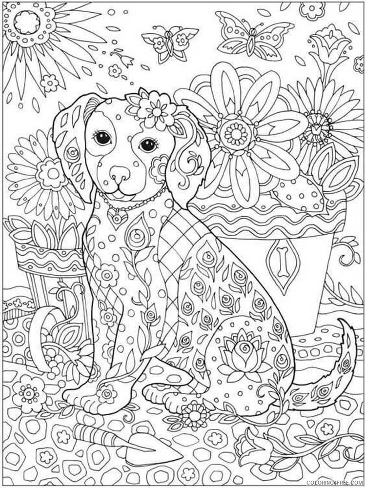 Dog for Adults Coloring Pages dog for adults 14 Printable 2020 571 Coloring4free