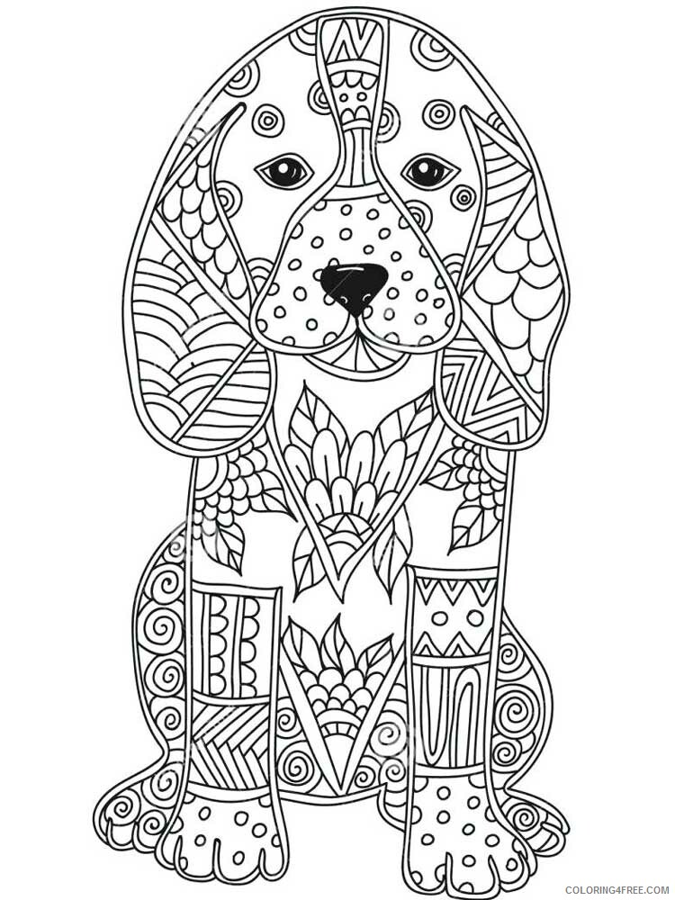 Dog for Adults Coloring Pages dog for adults 15 Printable 2020 572 Coloring4free