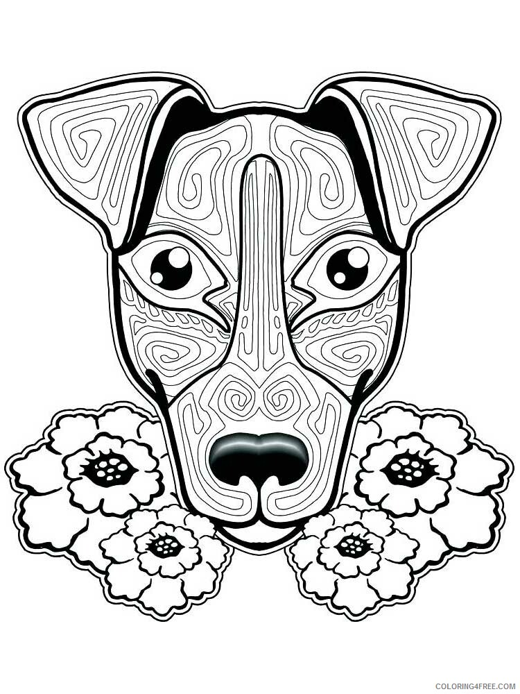 Dog for Adults Coloring Pages dog for adults 16 Printable 2020 573 Coloring4free