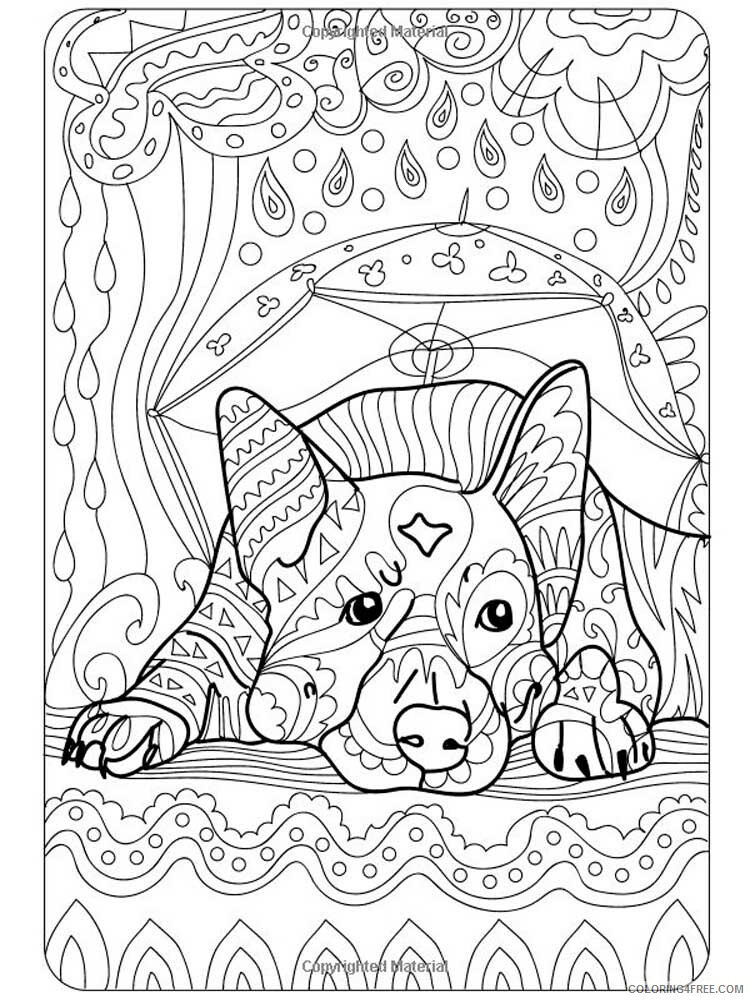 Dog for Adults Coloring Pages dog for adults 18 Printable 2020 575 Coloring4free