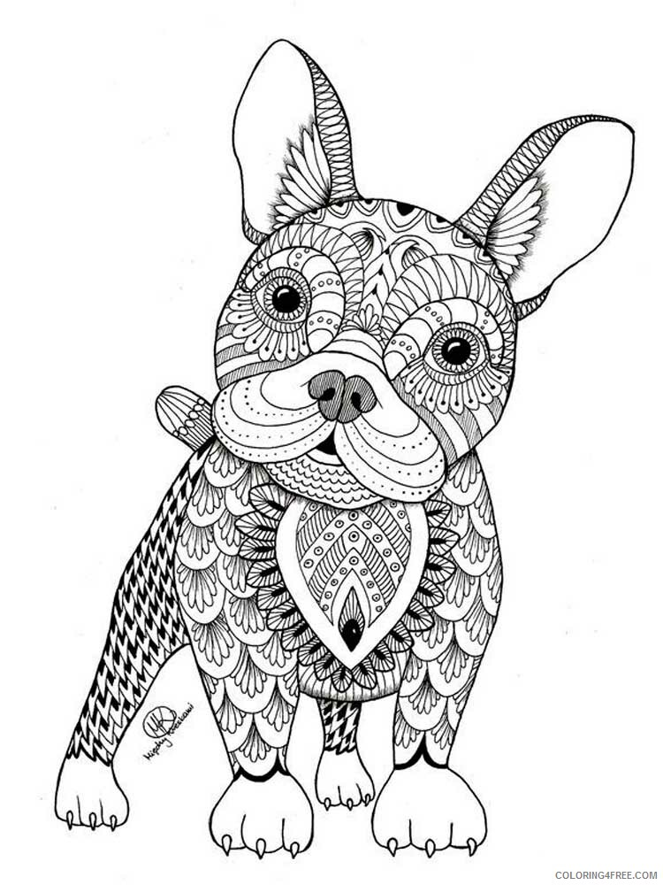Dog for Adults Coloring Pages dog for adults 19 Printable 2020 576 Coloring4free