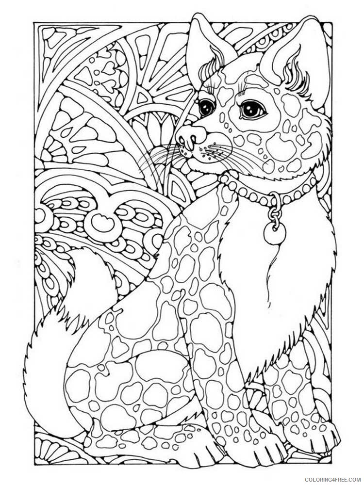 Dog for Adults Coloring Pages dog for adults 2 Printable 2020 577 Coloring4free