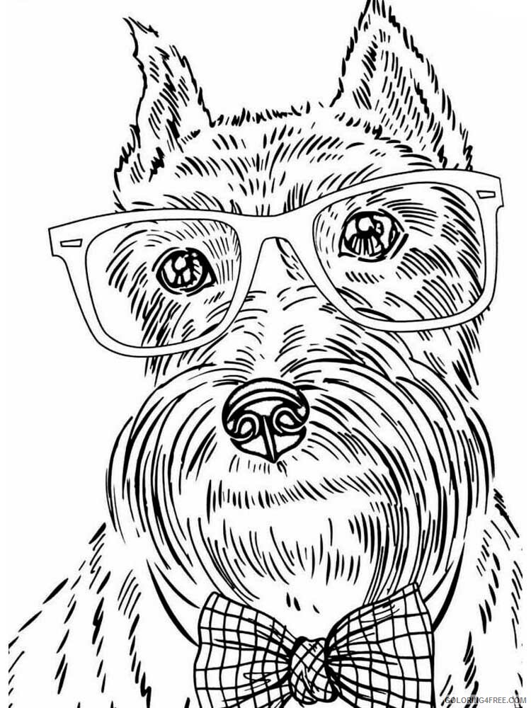 Dog for Adults Coloring Pages dog for adults 20 Printable 2020 578 Coloring4free